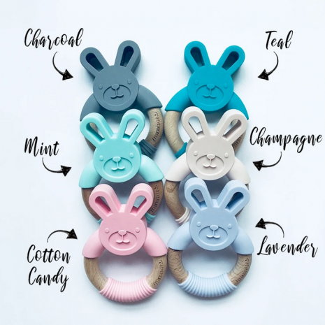 BUNNY TEETHER - WITH 6 COLOUR OPTION