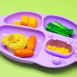 Marcus & Marcus Yummy Dips Suction Divided Plate 8