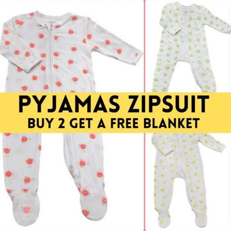 Pyjamas Zipsuit With 3 Fruity Design -- Buy 2 Get Free Blanket