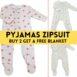 Pyjamas Zipsuit With 3 Fruity Design — Buy 2 Get Free Blanket