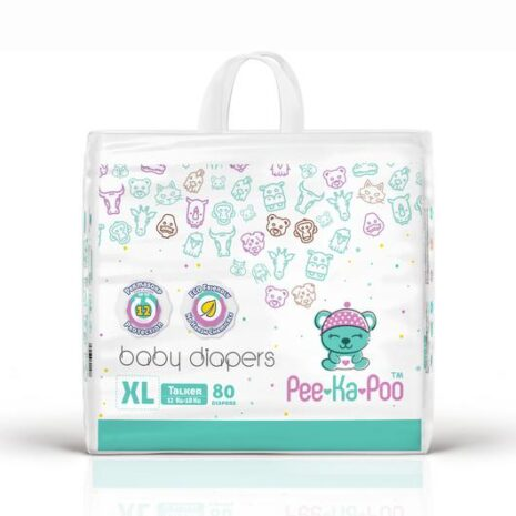 Taped Diapers Talker XL 12kg - 18kg (80 Pieces)