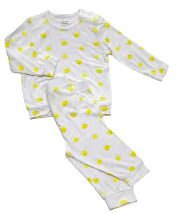 Two Piece Snap Pyjamas With Fruity Design - Buy 2 Get Free Blanket ye