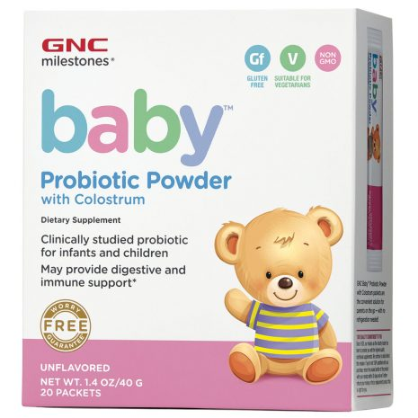Baby Probiotic Powder With Colostrum Dietary Supplement Unflavored (20 Packets)