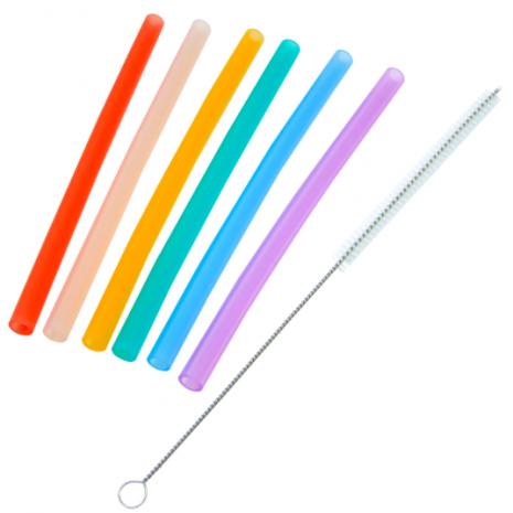 Marcus & Marcus Reusable Silicone Straws & Brush Set